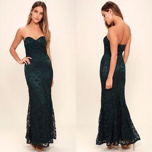 64b74e9ffd ⬇️Lulus Inherent beauty dark green lace maxi dress